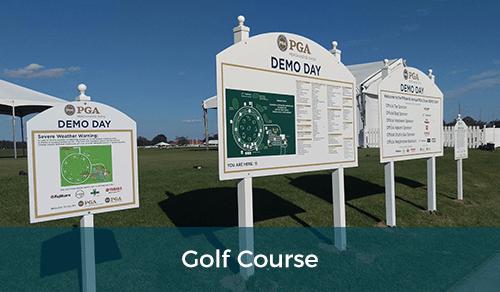 Golf Course Signage & Poles