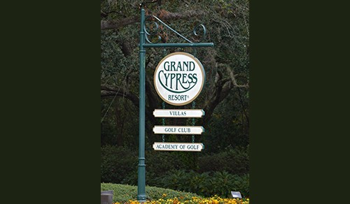 Large main entry sign