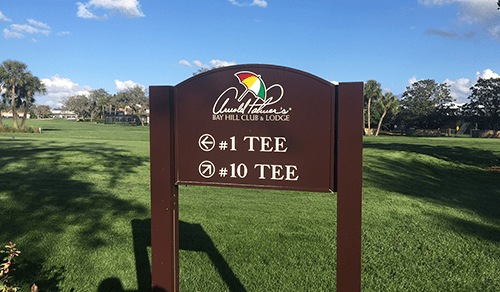 Golf Course directional and wayfinding sign