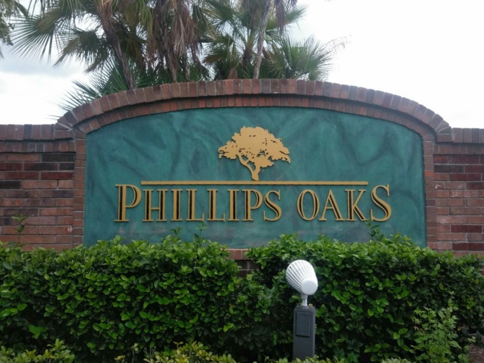 Phillips Oaks Sign