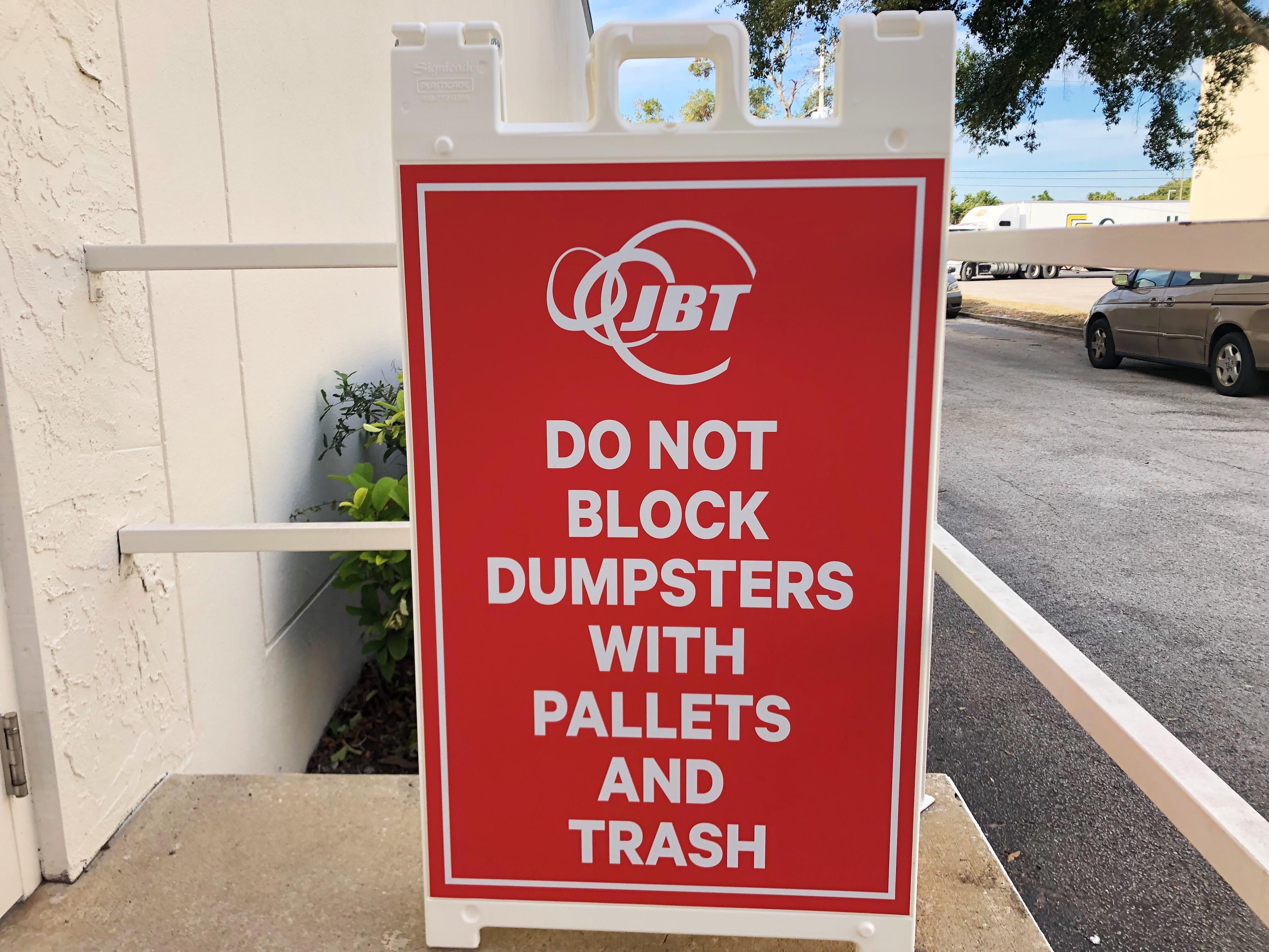 JBT exterior sign