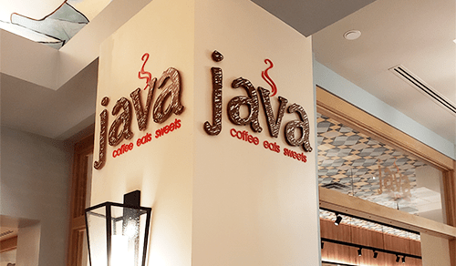 Java Cafe wall sign