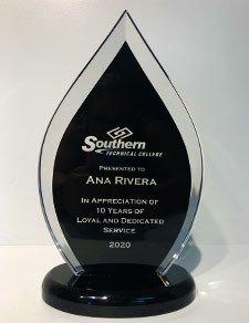 Acrylic Award- Southern Tech