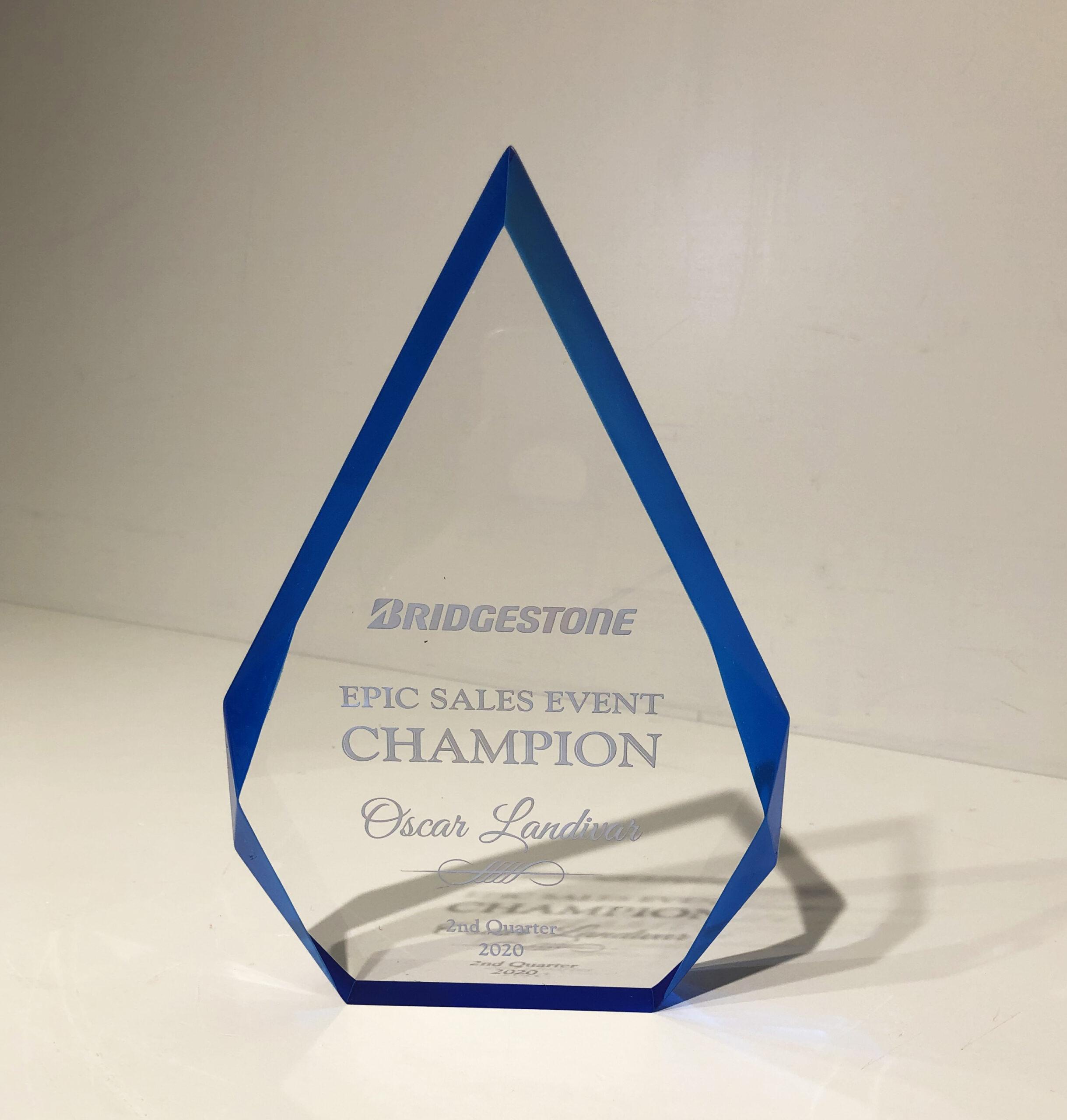 Bridgestone Acrylic Award